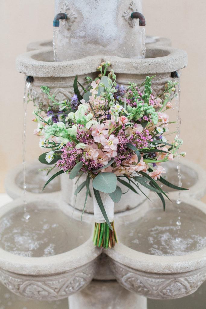 bride's violet flower bouquet
